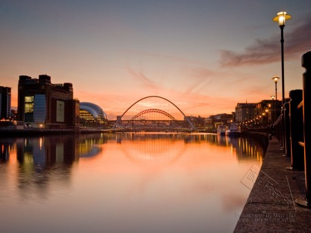 Autumn Sunset on the River Tyne