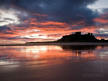 Bamburgh Castle Sunrise Photo