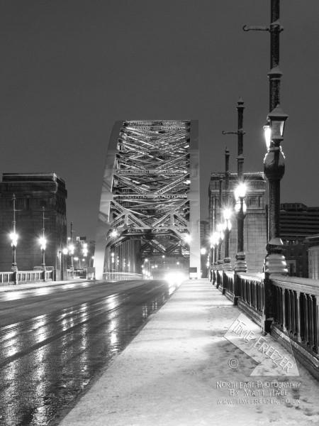 Tyne Bridge in Snow