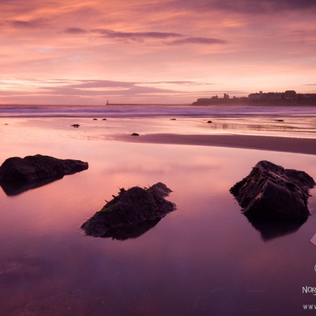 Tynemouth Longsands sunrise photo
