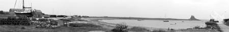Panoramic Photo of Holy Island Northumberland