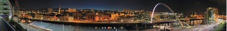 Panoramic Photo of Newcastle Quayside