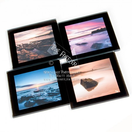 Toughened Glass Photo Coasters