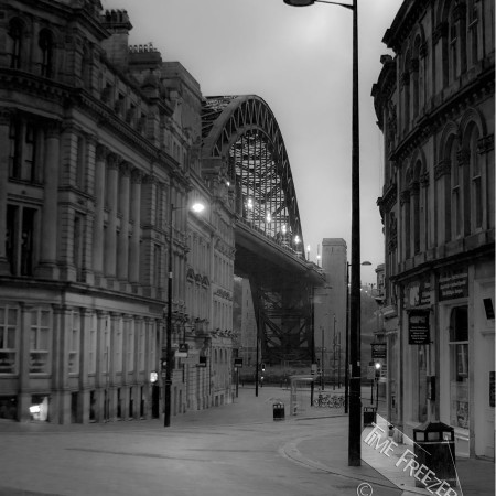Tyne bridge from the side photograph
