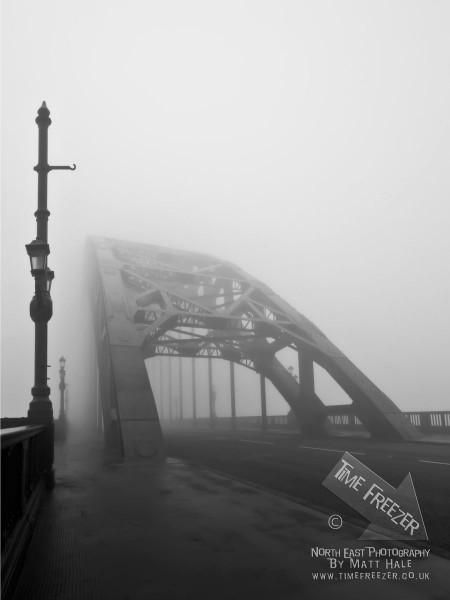Fog ont he Tyne Bridge photo