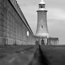 Tynemouth Lighthouse 2 black and white