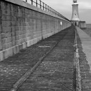 Tynemouth Lighthouse 3 black and white