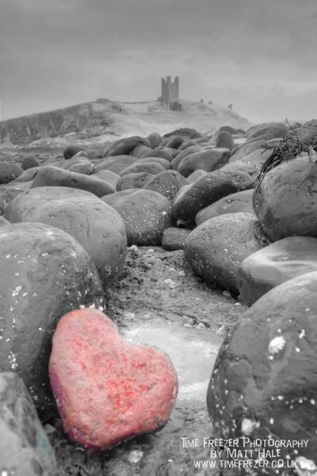 Dunstanburgh Castle Heart Photo