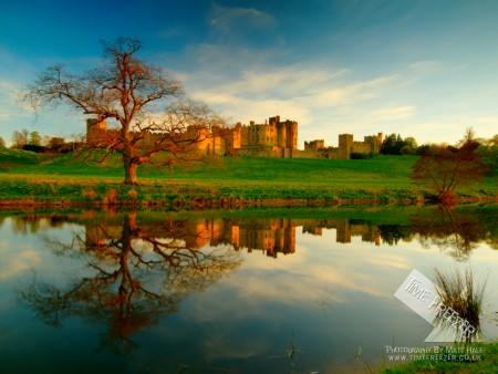Alnwick Castle Sunset Photo