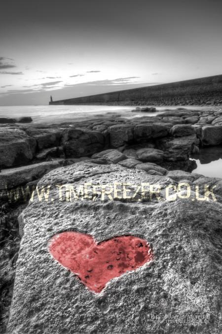 Tynemouth Pier Heart Photo