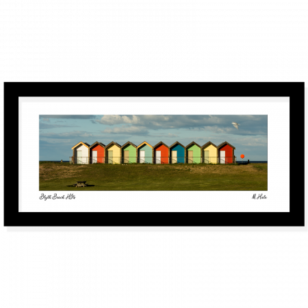 blyth beach huts summers day