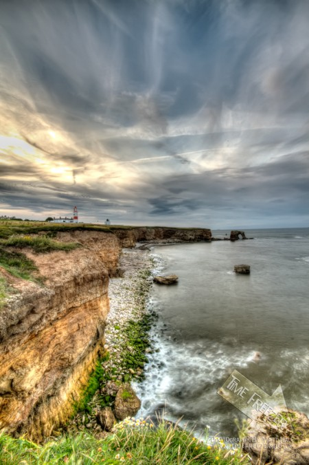 Souter Lighthouse Sunset photo