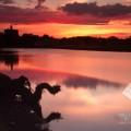 Warkworth Castle Summer Sunset Photo