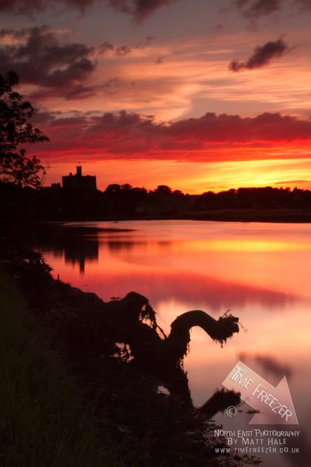 Sunset at Warkworth Castle