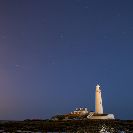 St Marys Lighthouse Whitley Bay Night Photo