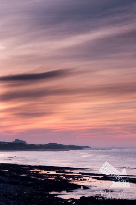 Bamburgh Castle Sunset photo
