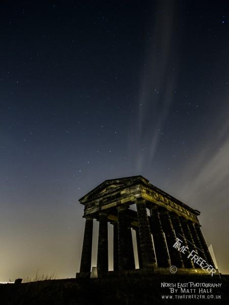 Penshaw monument at night photo
