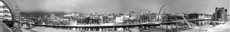 Snow on Newcastle Quayside Panoramic