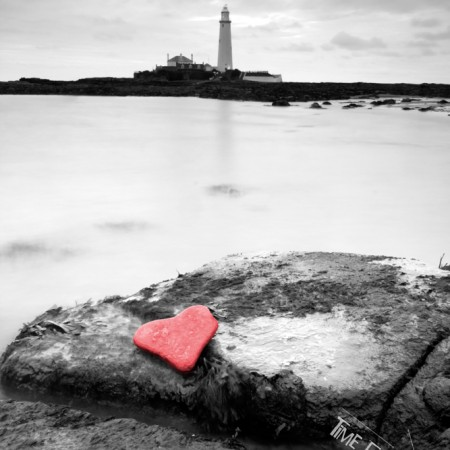 St Marys Lighthouse Heart Shaped photo