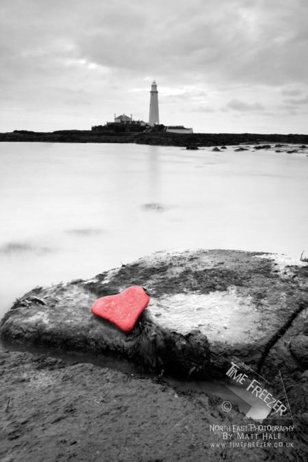 St Marys Lighthouse Heart Shaped photo
