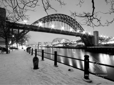 Newcastle Tyne BRidge covered in Snow Photo