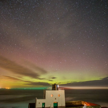 Aurora Borealis at Bamburgh Photo