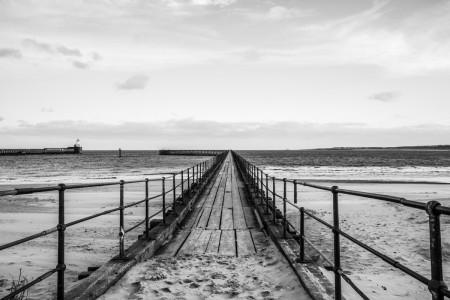 Blyth Pier Northumberland Photograph