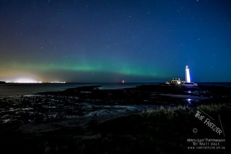 Aurora Borealis at St Marys Lighthouse