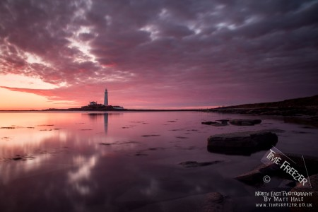 St Marys Lighhouse Sunrise Photo
