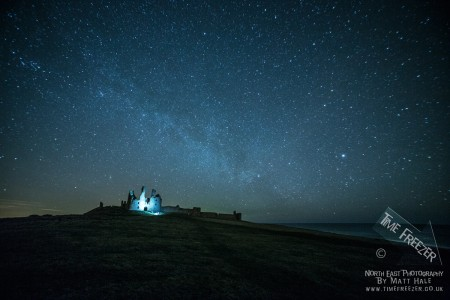 Dunstanburgh Castle at Night