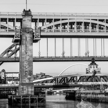 Four Bridges over the RIver Tyne Limited Edition Photograph