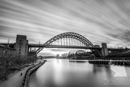 Black and White Photo of the Tyne Bridge