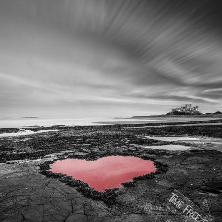 Bamburgh Castle Love Heart Photo