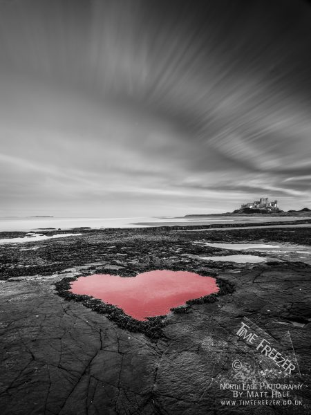 Bamburgh Castle Love Heart Photo