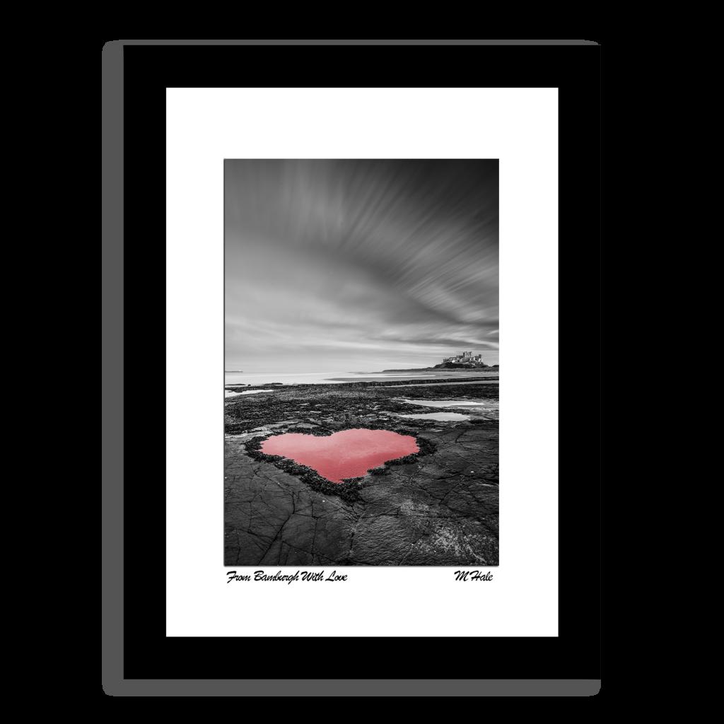 Bamburgh Castle Heart Shaped Rock Pool Photo