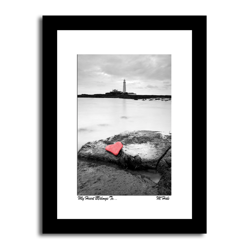 Heart shaped rock at St Marys Lighthouse Whitley Bay