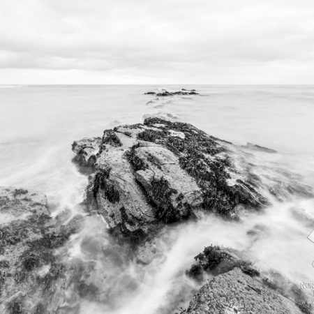 Cullercoats Rocks Black and White Photo