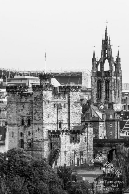 Black and white photo of Newcastle