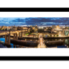 Night time panoramic photo of Newcastle