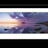 Sunrise panoramic photograph of st Marys lighthouse