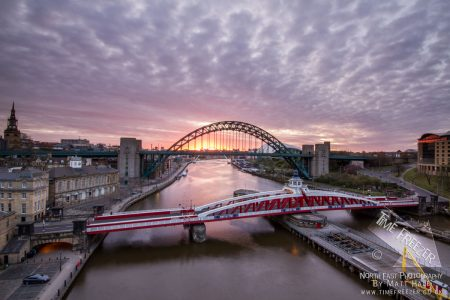 Sunrise over the Tyne Bridge