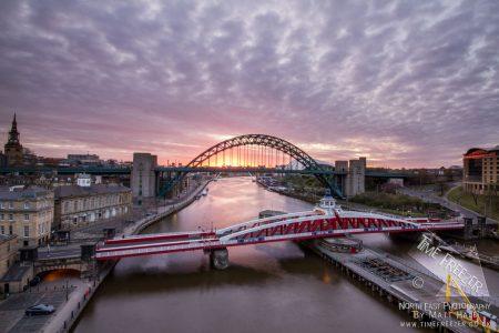 Sunrise over the Tyne Bridge