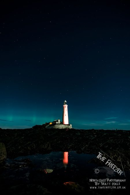 Northern Lights at St Marys Lighthouse