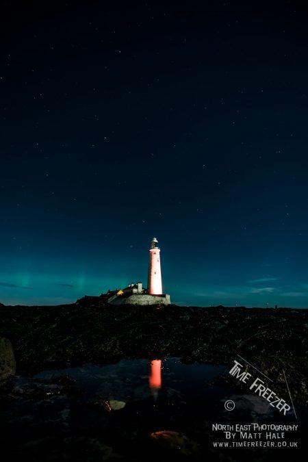 Northern Lights at St Marys Lighthouse