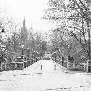 Snow on the Armstrong Bridge