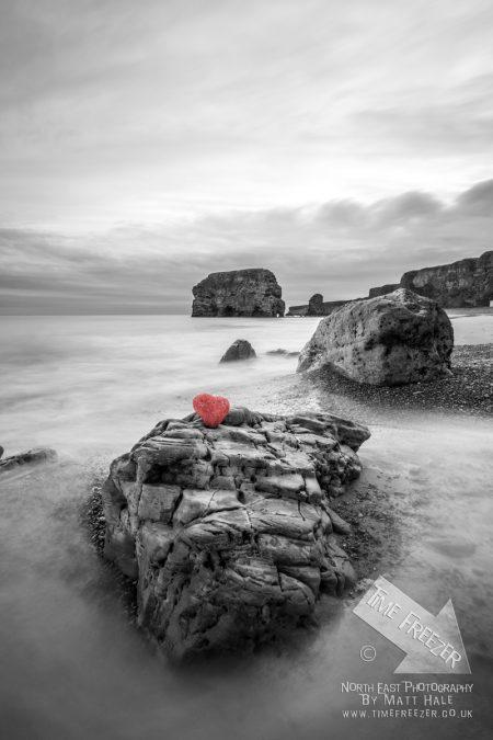 Heart Shaped rock at marsden South Tyneside