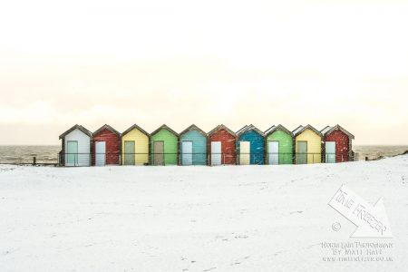 Snow on the Blyth Beach Huts