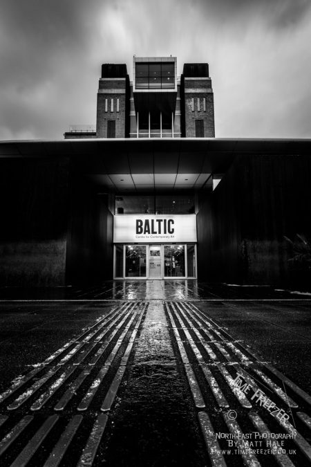 Black and white photo of the Baltic Centre for contemporary arts