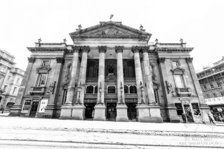 snow at the Newcastle Theatre Royal