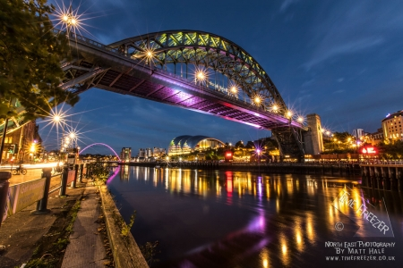 Blue Hour Tyne Bridge Photograph
